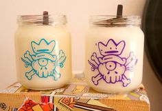 Soy Wax candles in baby food jars! more nature in your home!