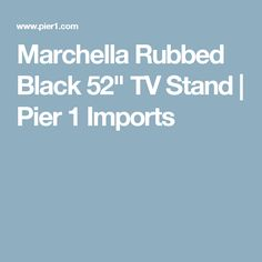 "Marchella Rubbed Black 52"" TV Stand 