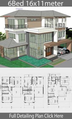 Home Design Plan with 6 bedrooms - Home Ideassearch - - Home Design Plan. - Home Design Plan with 6 bedrooms – Home Ideassearch – – Home Design Plan with 6 bedrooms – Home Ideassearch – – - {hashtag} Sims 4 House Plans, Modern House Floor Plans, House Layout Plans, Craftsman Style House Plans, Dream House Plans, Sims 4 Modern House, Beach House Floor Plans, House Plans Mansion, Modern Houses