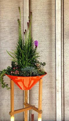 Beautiful planting of Steel Life's Tall Matchstick planter. #moderngarden #planters