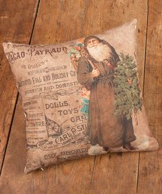 Another great find on #zulily! Putty Vintage Santa Pillow by Ragon House #zulilyfinds