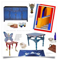 """Spanish Colonial Hacienda"" by fl4u ❤ liked on Polyvore featuring interior, interiors, interior design, home, home decor, interior decorating, NOVICA, mexican, ProjectDecorate and homedec"