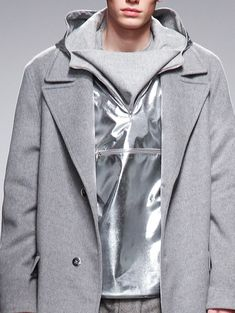 Richard Nicoll...grey and metallic silver menswear