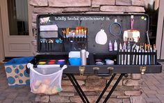 Face Painting Set Up