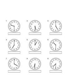 Nauka zegara – napisz godzinę – część 2 Clock, Aga, Education, Deutsch, Watch, Clocks, Onderwijs, Learning