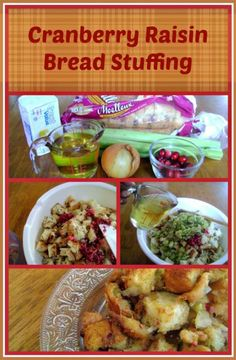 Cranberry Raisin Bread Stuffing - the perfect easy Thanksgiving side dish. It's easy to make and such a crowd pleaser.  easy recipe   easy Thanksgiving recipe