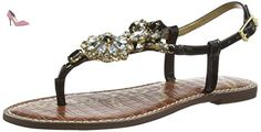 Sam Edelman GRAYSON, Sandales Plateforme femme - Noir (Black Patent)-40 EU(Taille UK : 9) - Chaussures sam edelman (*Partner-Link)