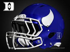 Duke Blue Devils Football Helmet Concepts #DUKE #ACC #BLUEDEVILS
