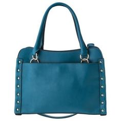 Melie Bianco Amanda handbag in Teal.  Love the strong color and classic shape of this bag!