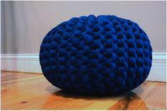 Chunky knit pouf by danasjoy (etsy)