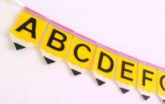 Felt Alphabet Banner Classroom Decoration Teacher by heartFeltbyA