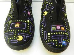 Zapatillas pintadas a mano Diseño Comecocos