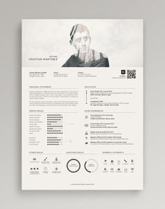 Double Exposure Minimalist Resume Example /// Check out this in Creative Resume Examples, Templates & Ideas. Or search for Creative Resumes on the Venngage Gallery! Self Design, Graphic Design, Graphic Art, Pinterest Design, Modern Resume Template, Resume Templates, Cv Template, Portfolio Design, Ideas