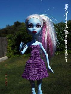 Vestido para Monster High v48 de My Monster High boutique por DaWanda.com