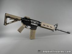Colt M4 Carbine model 6920 with flat dark earth Magpul MOE furniture and 30rd PMAG.