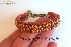 DragonFly Bangle ( PDF Beading tutorial in Italian or in English)