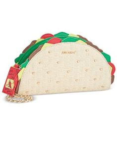 """Let's taco about how cute this Betsey Johnson wristlet is! Perfect for the fashionable foodie, it's topped with a """"hottie sauce"""" zipper pull. 