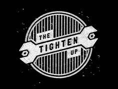 Tighten Up Logo — Lauren Dickens Typo Logo, Logo Branding, Branding Design, Packaging Design Inspiration, Logo Inspiration, Trade Logo, Logos, Web Design Projects, Mechanical Design