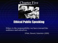 chp-5-ethical-public-speaking by ProfessorEvans #ethicalpublicspeaking