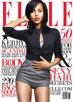 Our Superwoman: Kerry Washington Graces 'ELLE', Landing Her First Major Fashion Cover!