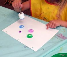 Painting with Marshmallows, for a camping unit Awesome idea! Next rainy day activity for me and the kids!