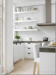 Open shelves in my next kitchen