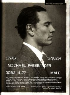 Michael Fassbender photographed by Jean Baptiste Mondino for British GQ February 2014
