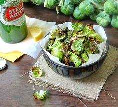 Inspired Edibles: Roasted Brussels Sprouts Chips with Balsamic