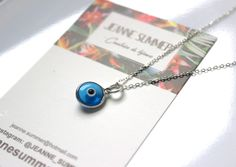 Collier/sautoir argent 925 pendentif oeil grec via jeanne summer. Click on the image to see more!