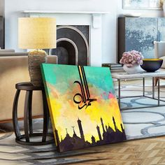 Looking for a custom Islamic calligraphy artwork? I can create beautiful Islamic Calligraphy Artwork Exclusively for you. Best Islamic calligraphy in Dubai Arabic Calligraphy Art, Arabic Art, Calligraphy Wallpaper, Calligraphy Alphabet, Black Art Painting, Painting Canvas, Diy Canvas Art, Canvas Canvas, Canvas Prints