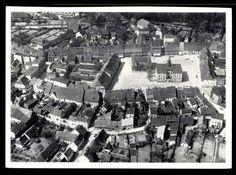 Ansichtskarte / Postkarte Militsch Schlesien, Fliegeraufnahme, Blick auf Ort | akpool.de