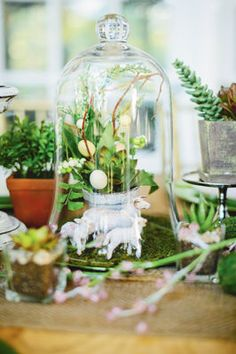 #Easter Bell Jar Centerpiece
