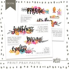 Title Starters | Vol. 1 | Bible Journaling Printable Ephemera by Illustrated Faith Faith Bible, Illustrated Faith, Feeling Stuck, Finding Peace, Beautiful Words, Starters, Prompts, Lettering, How To Plan