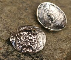 Artisan Sheep Button in Sterling Silver, Lamb Button