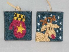 Punchneedle Patterns Plus - Holiday Ornaments 1