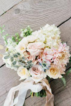 Romantic Dahlia & Rose Bouquet