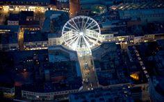 The Bristol Wheel at night.