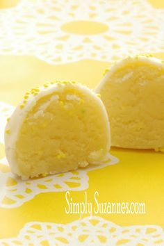 Simply Suzanne's AT HOME: lemon cake batter truffles