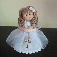Christening/Communion Standing Girl Cake Topper