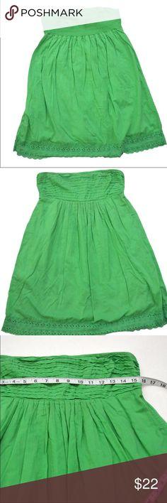 J Crew Strapless Flowy Sundress J Crew green strapless dress J. Crew Dresses Strapless