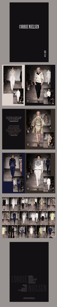 Corrie Nielsen Spring Summer 2012 look book design by The Usual Studio. #fashion #lookbook #theusualstudio