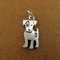 Jack Russell terrier pendant by StickManJewelry on Etsy, $22.00