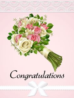 Rose Bouquet Congratulations Card: Sometimes, as much as you might want to, it's just not possible to be standing at the door with a big bouquet of roses. If that's the case, you can still send those beautiful roses and your heartfelt congratulations across the miles with this gorgeous congratulations card!