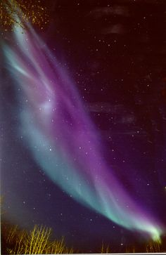 'Passionate Purple' Aurora Borealis - Alaska