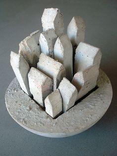 Civilisation 3g Concrete sculpture Sharon Pazner