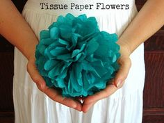 DIY Tutorial: Tissue Paper Flowers