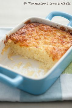 #Secondo piatto con #spuma di patate in teglia con parmigiano e mozzarella