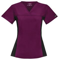 We love this Cherokee Flexibles top! Great shape with the ability to move! The two tone is slimming and flattering! Find it at The Uniform Outlet!