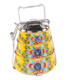 Yellow Millifiori Steel Tiffin   I want this!  How adorable would this be while eating lunch in the middle school cafeteria.  A moment of zen as I unpack my lunch.