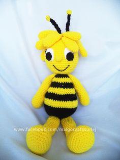 Pszczółka Maja na szydełku ok. 40 cm